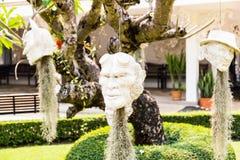 Голова дьявола на провинции Wat Rong Khun Chiangrai Стоковые Изображения RF