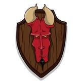 Голова дьяволов иллюстрация штока