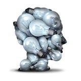 Голова электрической лампочки иллюстрация вектора