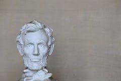 Голова Abe Линкольна на левой стороне Стоковая Фотография