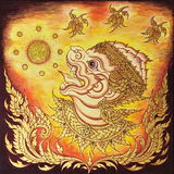 Голова Hanuman Стоковое Изображение