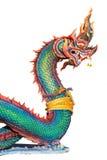 Голова Naga изолированная на белой предпосылке Стоковые Фотографии RF