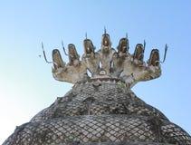 Голова Naka 7 над Буддой Стоковые Фотографии RF