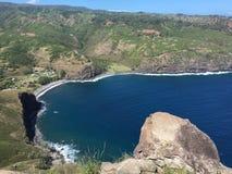 Голова Ontop Kahakuloa, Мауи Стоковая Фотография