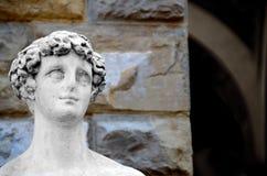 Голова ` s молодого человека Флоренция Италия стоковые фото