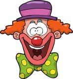 головка клоуна шаржа Стоковые Фотографии RF