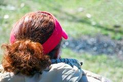 Головная женщина изолированная белизна вид сзади Стоковая Фотография