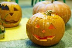 Головная тыква на хеллоуин Стоковое Фото