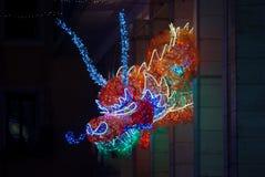 Головное освещение дракона Стоковая Фотография