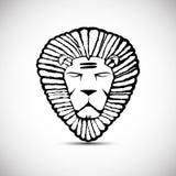 Головной дизайн вектора логотипа льва, rastafarian концепция иллюстрация вектора