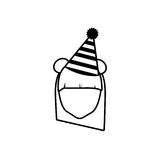 головной план шляпы партии девушки стороны бесплатная иллюстрация