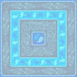 Головной платок Пейсли дизайна голубая палитра Стоковые Фотографии RF