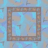 Головной платок Пейсли дизайна птицы голубые Стоковое Изображение