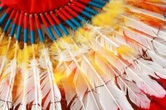 Головной убор индийского вождя коренного американца Стоковая Фотография