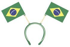 Головной убор с флагами Бразилией Стоковые Фотографии RF