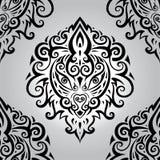 головной львев картина безшовная Стоковая Фотография