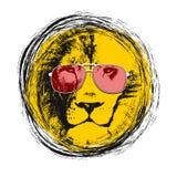 головной львев Предпосылка вектора плакат Стоковое Изображение