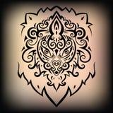 головной львев этническая картина Стоковые Фото