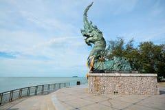 Головной Naga statue Стоковое Изображение RF