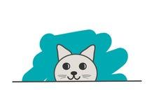 Головной sneaky кот иллюстрация штока