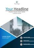Годовой отчет, дизайн обложки книги A4 также вектор иллюстрации притяжки corel Стоковое Фото
