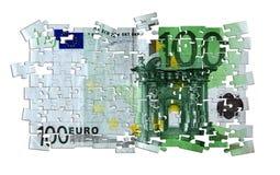 Головоломка евро Стоковое Фото