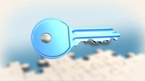 Головоломка и ключ иллюстрация вектора