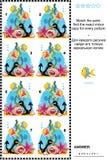 Головоломка подводного мира визуальная: Соответствуйте парам - найдите отраженные изображения бесплатная иллюстрация