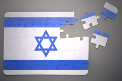 Головоломка с национальным флагом Израиля бесплатная иллюстрация