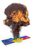 Головоломки взрыва Стоковое Фото
