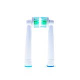 Головы замены электрической зубной щетки с кольцами цвета Стоковые Изображения RF