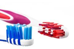 2 головы зубной щетки Стоковые Фотографии RF