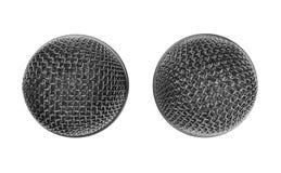 2 головы микрофона на белой предпосылке Стоковые Фото