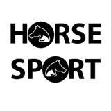 Головы лошади с текстом на белой предпосылке иллюстрация штока