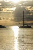Головы парусника к заходу солнца Стоковое Изображение