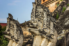 Головы дракона в Чиангмае, Таиланде стоковые фотографии rf