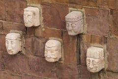 Головы статуи идола от Tiwanaku Стоковые Фото