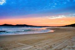 Головы Noosa на заходе солнца Стоковое Изображение RF