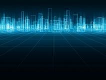 Голографический город Стоковое Изображение RF