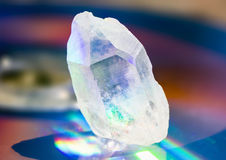 Голографический пункт Кристл кварца Стоковые Фотографии RF