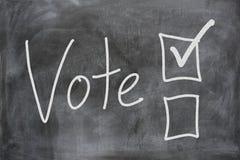 Голосование в избрании стоковые изображения