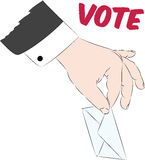 Голосование на урне для избирательных бюллетеней Стоковое фото RF