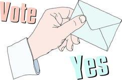 Голосование на урне для избирательных бюллетеней Стоковое Изображение