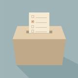 Голосование урны для избирательных бюллетеней Стоковые Изображения RF