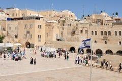 Голося стена - Израиль стоковое изображение