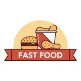 Голодает и высококалорийная вредная пища Стоковая Фотография
