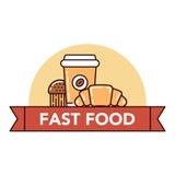 Голодает и высококалорийная вредная пища Стоковые Изображения