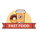 Голодает и высококалорийная вредная пища Стоковая Фотография RF