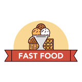 Голодает и высококалорийная вредная пища Стоковые Фотографии RF