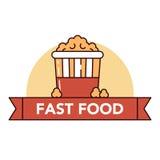 Голодает и высококалорийная вредная пища Стоковые Изображения RF
